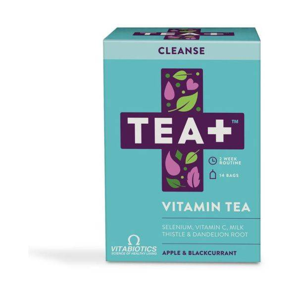 TEA+ Cleanse Apple & Blackcurrant Vitamin Tea - 14 Teabags