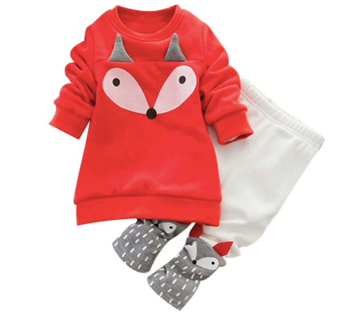 ---Girls Clothes Set Long Sleeve Sweatershirt Top + Pants Casual