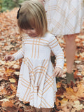 Matching Mother Daughter High Waist Striped Mini Pleated Dress New