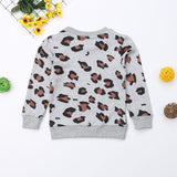 --Matching Cheetah Girl Sweatshirt Tops