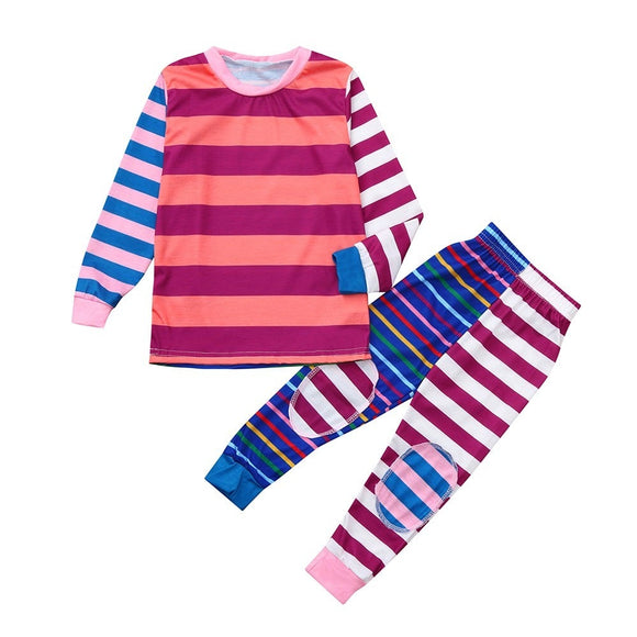--Matching Striped Sleepwear PJ's