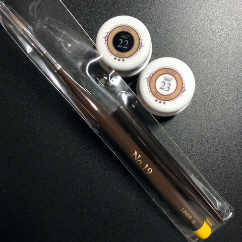Paint Art Kit [[VL022 Black, VL023 Matte White, Yellow Liner S]