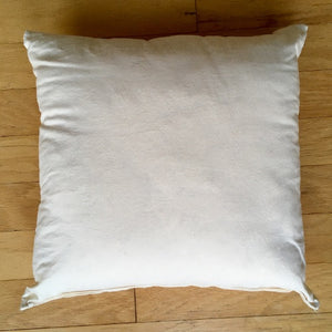 Organic cotton pillow form. Organic cotton pillow insert.
