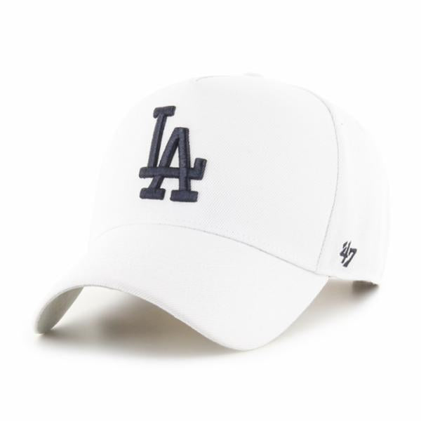 Los Angeles Dodgers White 47 MVP DT Snapback