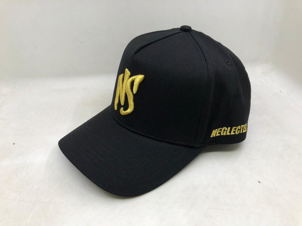 NS Aframe Flexband Black/Gold Snapback Cap