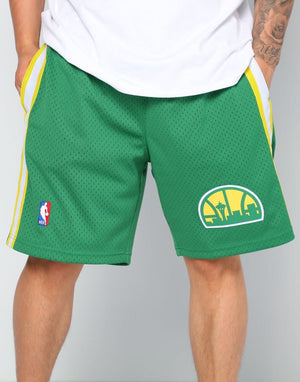 NBA Swingman Shorts SONICS 1994-95 ROAD (GREEN)