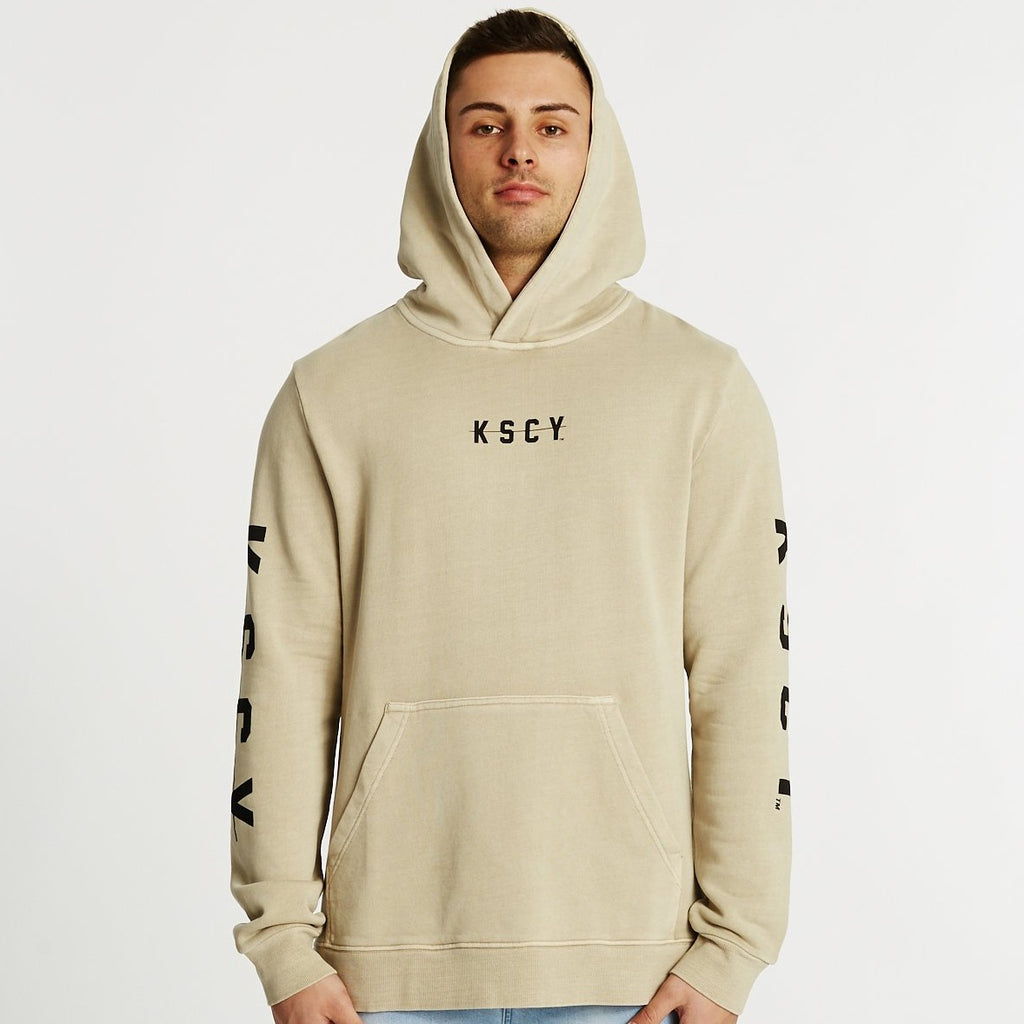 KSCY Breakdown Step Hem Hooded Sweater Pigment Sand