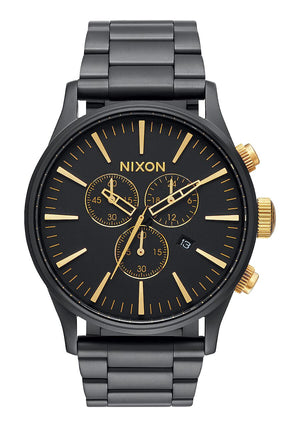 Sentry Chrono Matte Black / Gold