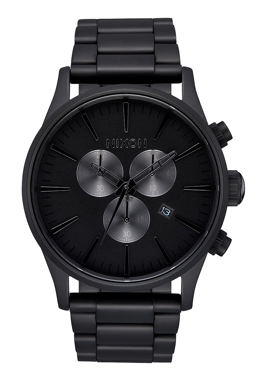 Sentry Chrono All Matte Black/Polished Black