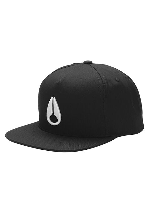 Simon Snapback Hat Black / White