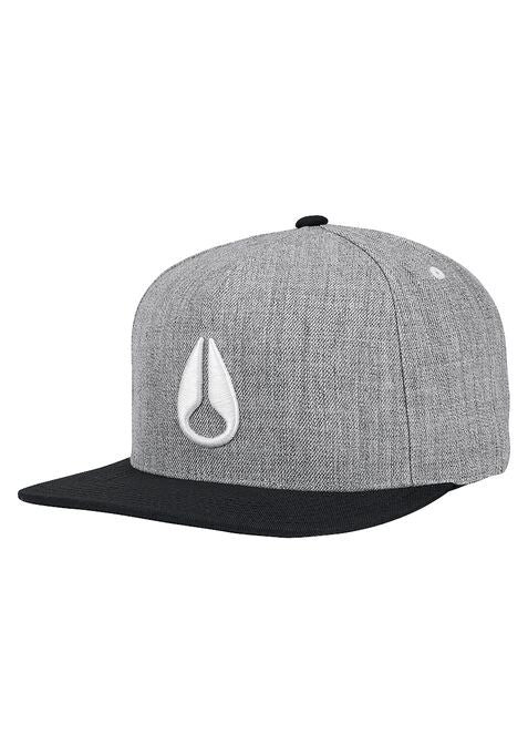 Simon Snap Back Hat Heather Gray / Black / Whit
