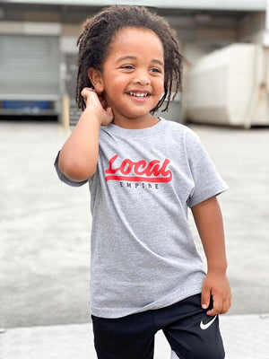Infant LE Baseball Logo Tee Grey Marle