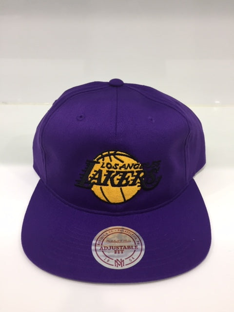 Lakers Team Logo Deadstock Throwback Flatbrim Purple