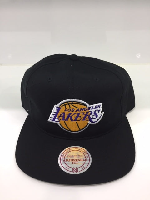 Lakers Team Logo Deadstock Throwback Flatbrim Black