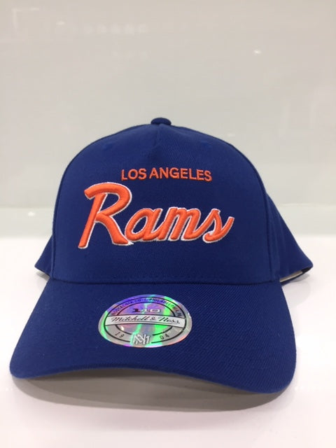 ROYAL SCRIPT WORDMARK LOS ANGELES RAMS (ROYAL/ORANGE)