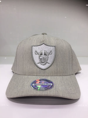 Raiders Grey Heather Crown 110 Pinch Snapback