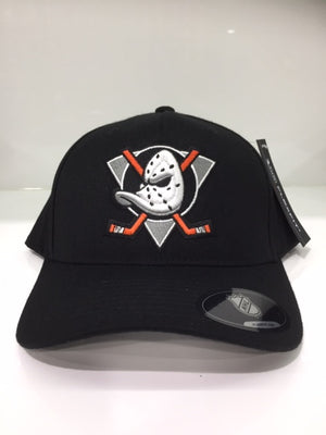 NHL Anaheim Ducks Team Logo Flex110 Black Snapback