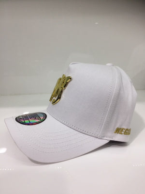 NS White Metal Logo White/Gold DEEP FIT Snapback