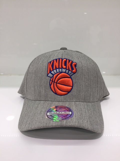 NY Knicks Team Heather 110 Snapback Grey