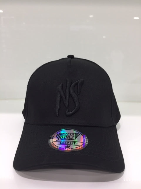NS All Black Aframe DEEP Fit Snapback