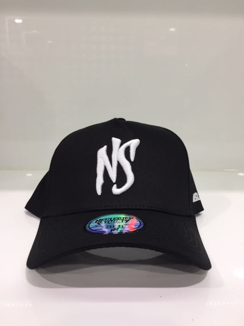 NS Black White Deep Fit Aframe Snapback