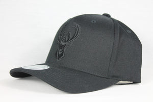 Bucks All Black Team Logo 110 Snapback