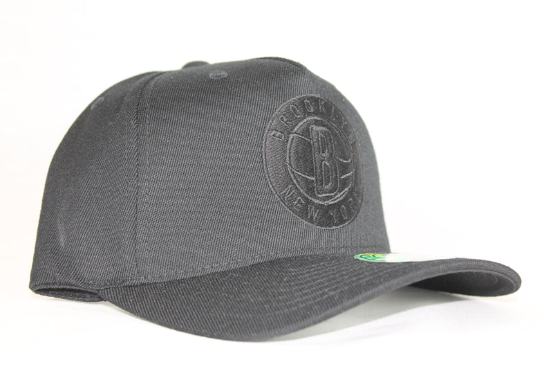 Nets All Black Team Logo 110 Snapback