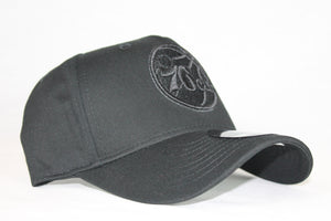 Youth All black logo 76ers snapback