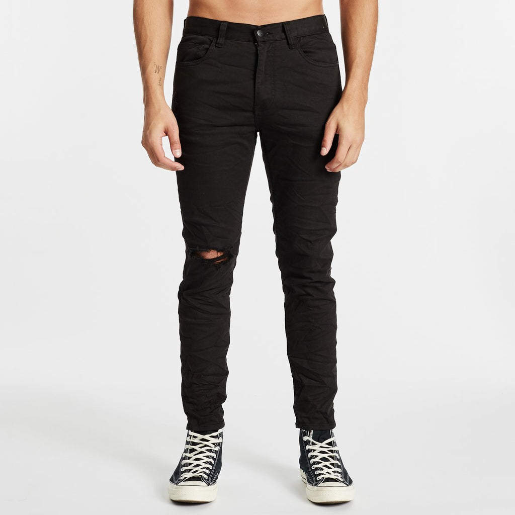k2 Skinny Fit Jean Destroyed Black
