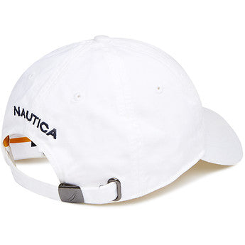 6 Panel buckle hat white