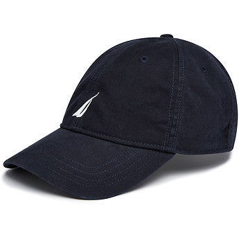 6 Panel buckle hat navy