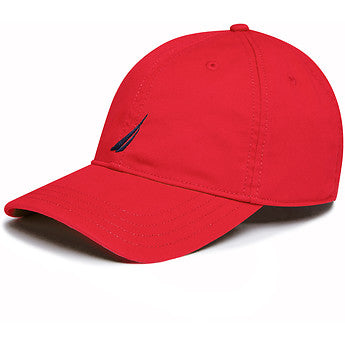 6 Panel buckle hat red