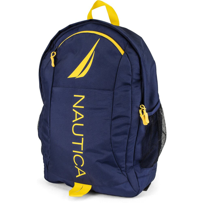 PANELED BRIGHT LOGO BACKPACK NAVY YELLOW