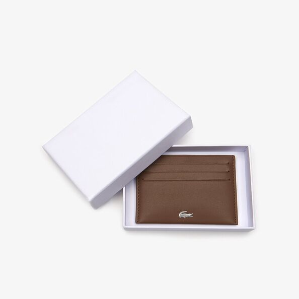 Lacoste FG Credit Card Holder Bison