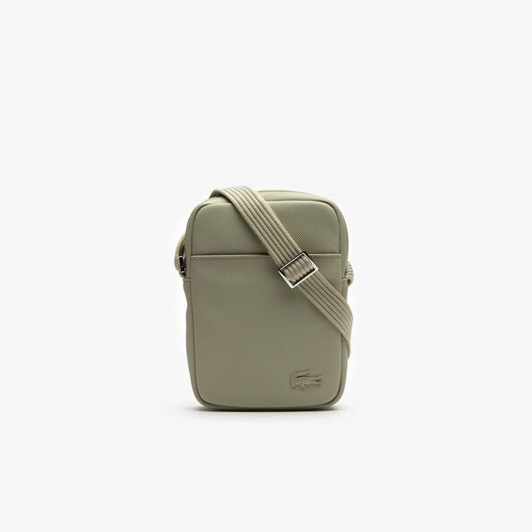 MENS CLASSIC SLIM VERTICAL SIDE BAG FEATHER GREY