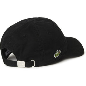 LACOSTE SIDE CROC CAP BLACK