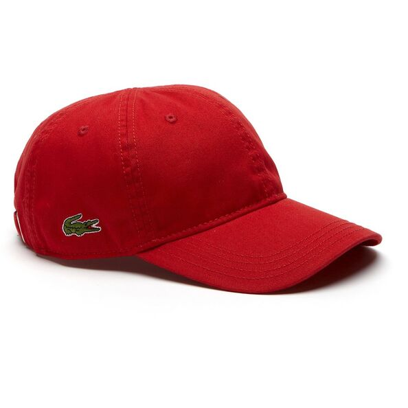LACOSTE SIDE CROC CAP RED