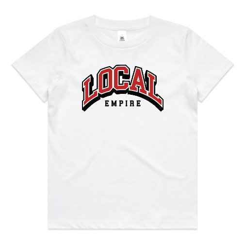 YOUTH LE Arch Logo Tee White