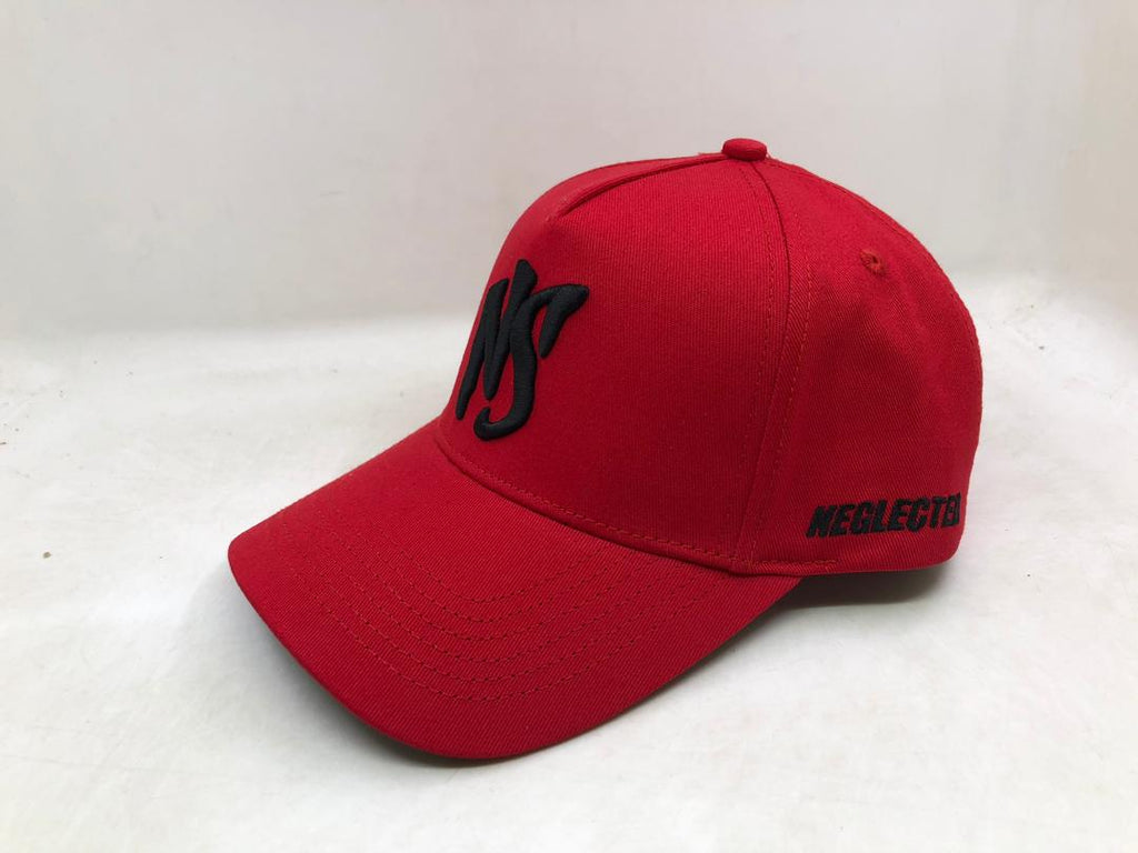 NS Aframe Flexband Red/Black Snapback Cap