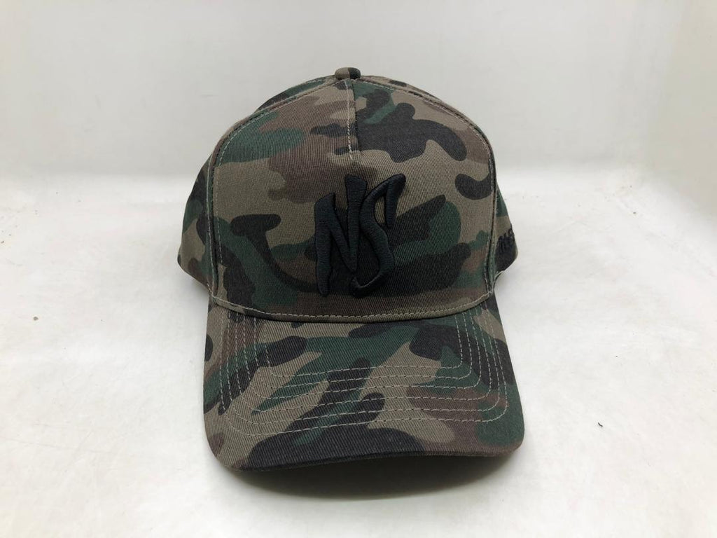 NS Aframe Flexband Youth Camo/Black Snapback
