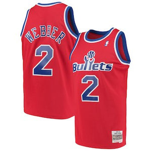 CHRIS WEBBER WASHINGTON BULLETS 94-95 Road SWINGMAN JERSEY