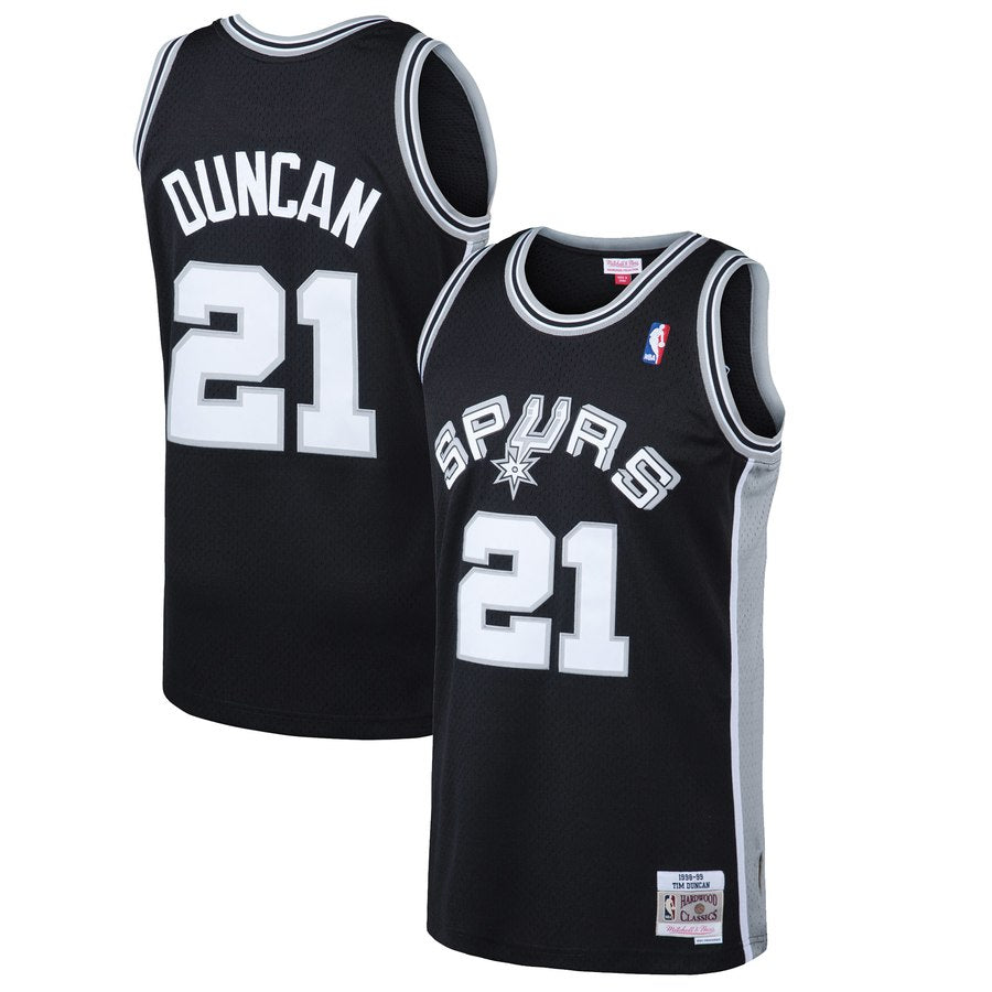 San Antonio Spurs Tim Duncan 21 98-99 Road Swingman Jersey