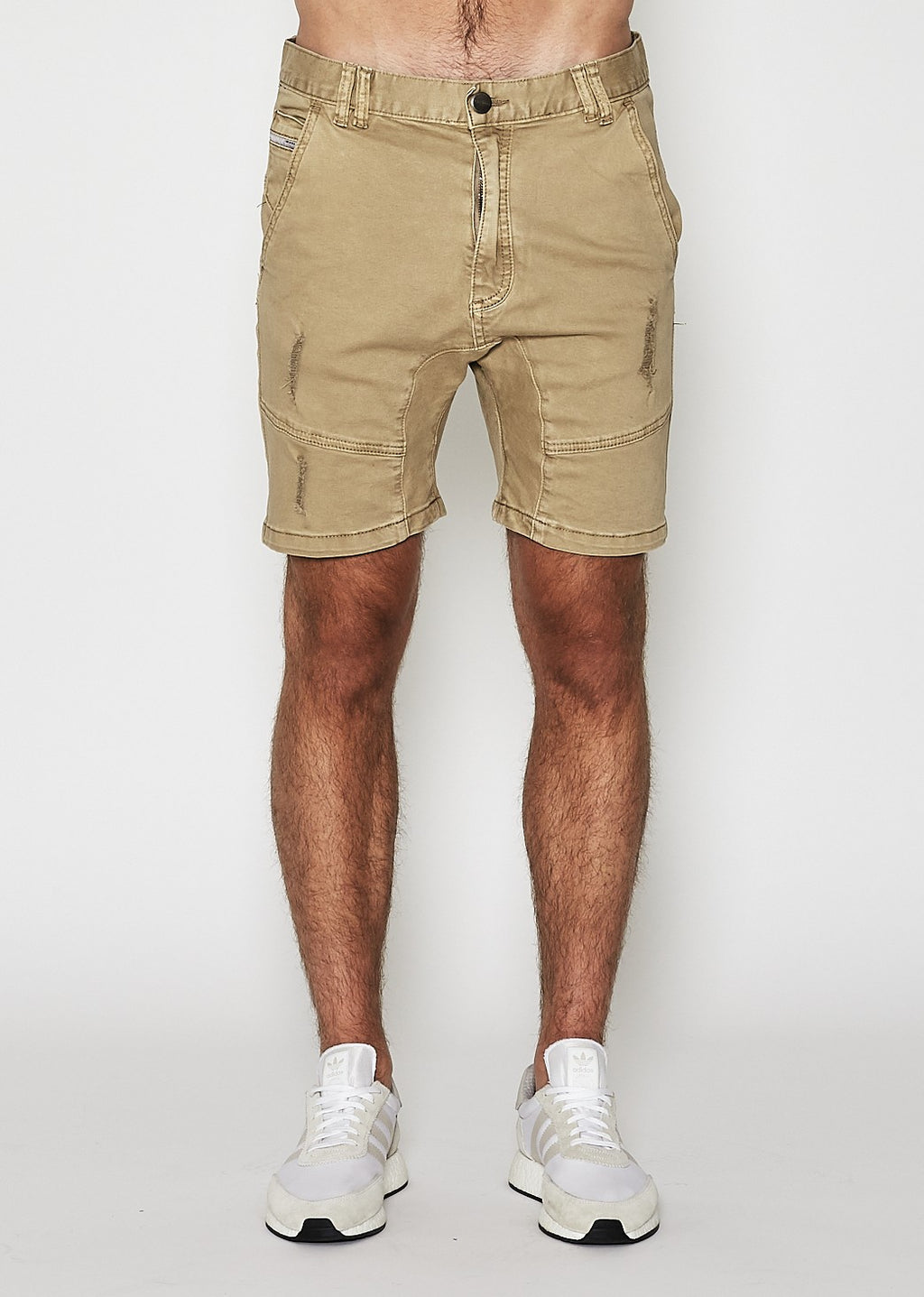 Flight Denim Short Oxford Tan