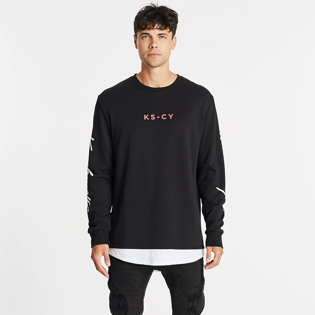 Fortuna Layered Sweater Jet Black