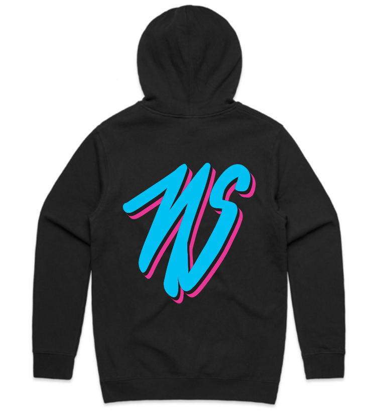 Neglected Society Miami Script Hoodie Black