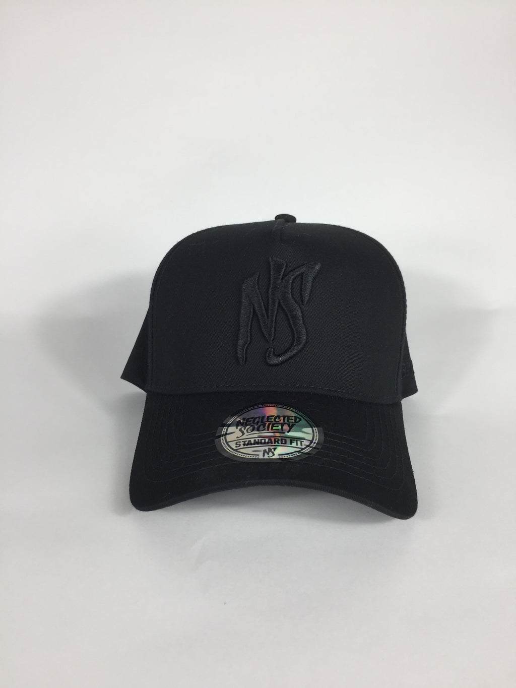 NS All Black Aframe Standard Fit Snapback