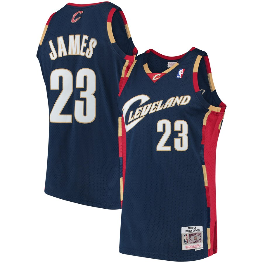 NBA Cleveland Cavaliers LeBron James 2008-2009 Navy Swingman Jersey
