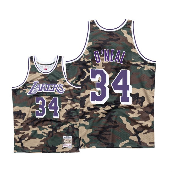 LAKERS SHAQ 34 woodlands camo swingman jersey