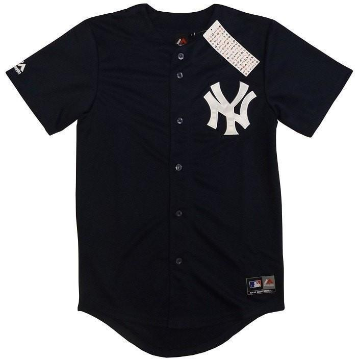 NY Yankees Replica Baseball Jersey Black