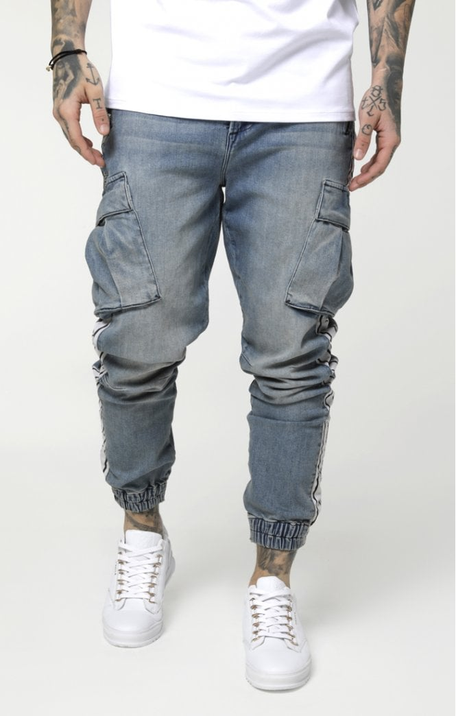 Cargo Pants Light Blue Denim